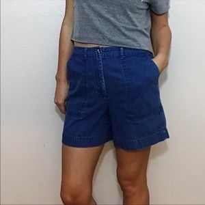 Talbots Vintage High Waisted Denim Shorts Size 10P